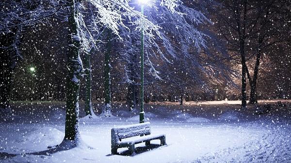 light landscapes nature winter snow night chairs , Wallpaper (2421259) / Wallbase.cc サイズ1920x1080