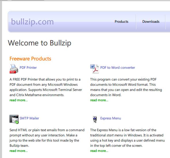 bullzip pdf printer free ダウンロード